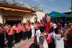 Yala Governor offer sacrifice to Tabtim goddess Stock Photography