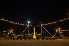 Yala Zegarowy wierza przy nocą Obraz Royalty Free