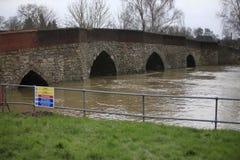 Yalding-Brücke Lizenzfreies Stockbild