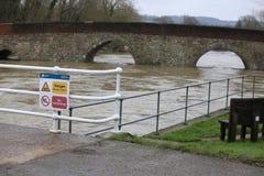 Yalding Bridge. Yalding Flooding in Kent England United Kingdom  31st January 2014 Stock Images