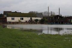 Yalding flod Arkivbild