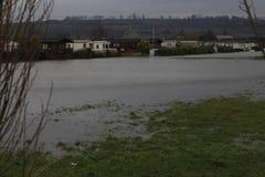 Yalding Flood. Ing in Kent England United Kingdom  31st January 2014 Royalty Free Stock Photography