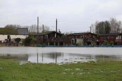 Yalding Flood. Ing in Kent England United Kingdom  31st January 2014 Royalty Free Stock Photo