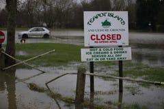 Yalding Flood. Ing in Kent 31st January 2014 Stock Image
