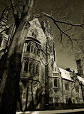 Yale in Black and White. Gothic buildings in Yale University Royalty Free Stock Images