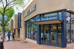 Yale Bookstore a New Haven Connecticut fotografia stock libera da diritti