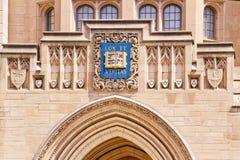 Yale universitetarSheffiield byggnad arkivbild