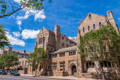 Yale university buildings in summer blue sky in New Haven, CT US Royalty Free Stock Photos