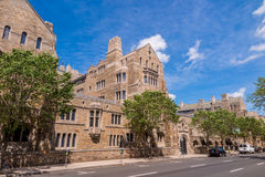 Yale university buildings in summer blue sky in New Haven, CT US Royalty Free Stock Photography