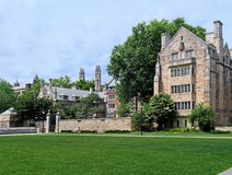 Yale University campus. Gothic revival architecture Royalty Free Stock Photography