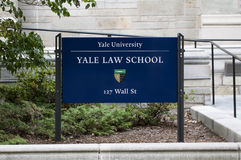 Yale University Law School Stock Images