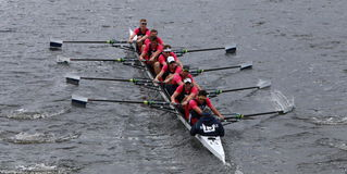 Yale University races in the Head of Charles Regatta Royalty Free Stock Photos