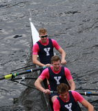 Yale University races in the Head of Charles Regatta Royalty Free Stock Images