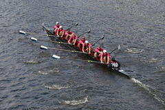 Yale University races in the Head of Charles Regatta Stock Image