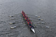 Yale University-Rennen im Kopf von Charles Regatta Stockbild