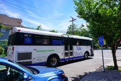 Yale University shuttle. Shuttle bus in Yale University Stock Image