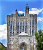 Yale University Sterling Memorial Library New Haven Connecticut. Yale University Sterling Memorial Library Statue New Haven Connecticut Fifth largest library in stock photography