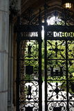 Yale University: wrought iron gate Stock Photo