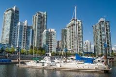 Yaletown budynki mieszkalni, Vancouver, Kanada Obraz Royalty Free