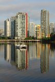 Yaletown Condos, False Creek Reflections Stock Image