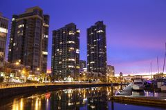 Yaletown Dawn, False Creek, Vancouver Stock Image