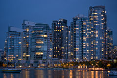 Yaletown at Dusk Royalty Free Stock Photo