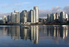 Yaletown, False Creek Vancouver Morning Stock Images