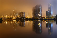 Yaletown Foggy Night, Vancouver Stock Images
