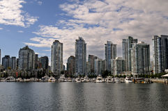 Yaletown Marina. View of a Marina in Yaletown, Vancouver, BC, Canada Stock Photos