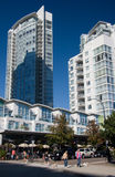 Yaletown - modern highrises, Vancouver, BC. Yaletown - modern highrise living in Vancouver, BC stock photo