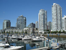 Yaletown Towers and Marina Royalty Free Stock Photos
