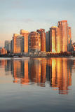Yaletown Towers Sunrise, Vancouver vertical Stock Photography