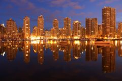 Yaletown Twilight Condominiums, Vancouver Royalty Free Stock Image