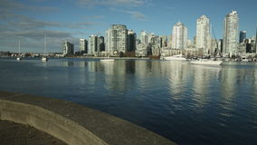 Yaletown View, False Creek Sailboats, Vancouver stock video footage