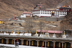 "Yalla neve-tampou as montanhas, chamadas o tibetano de ""onda Xia Xueya LaGa"" Imagens de Stock"