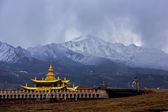 Yalla snow-capped mountains, called the Tibetan Xia Xueya LaGa wave Stock Images