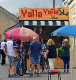 Yalla Yalla咖啡馆 免版税图库摄影