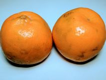 Yallow fresh Orange`s on white background royalty free stock image
