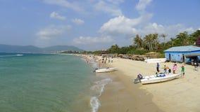 Yalong海湾在萨尼亚,海南 图库摄影