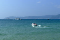 Yalong海湾在萨尼亚,海南 免版税图库摄影