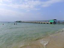 Yalong海湾在萨尼亚,海南 免版税库存图片