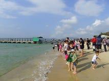 Yalong海湾在萨尼亚,海南 免版税库存照片