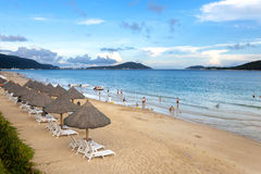 Yalong-Bucht-Strand, Sanya, China Stockfotos