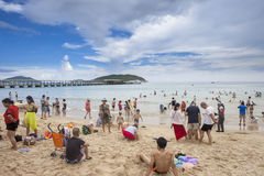 Yalong-Bucht-Strand, Sanya, China Lizenzfreies Stockbild