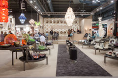 Yalos Murano stand at HOMI, home international show in Milan, Italy Royalty Free Stock Photo