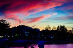 Yalova miasta port morski I Marina Fotografia Royalty Free