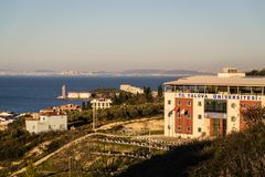 Yalova-Universität in der Cinarcik-Stadtlandschaft - die Türkei Lizenzfreie Stockfotografie