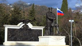 Yalta, Ρωσία, 26-Δεκέμβριος-2017: Μνημείο στο Αλέξανδρο ΙΙΙ φιλμ μικρού μήκους