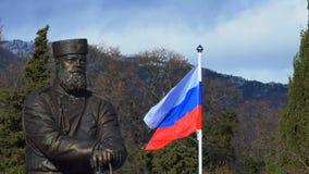 Yalta, Ρωσία, 26-Δεκέμβριος-2017: Μνημείο στο Αλέξανδρο ΙΙΙ απόθεμα βίντεο