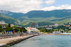 Yalta. The coast of Yalta, Crimea, Ukraine Royalty Free Stock Photos